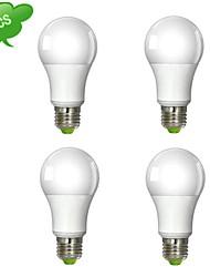 9W E26/E27 Bombillas LED de Globo A60(A19) 1 COB 850 lm Blanco Cálido / Blanco Fresco AC 100-240 V 4 piezas