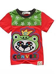 100% katoen zomer borduurwerk t-shirt jongen