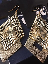 Hollow Out Multi-level Diamond Ladies All-match Frosted Earrings
