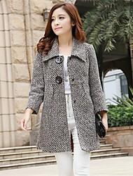 cappotti lunghi di lana nuova moda femminile luotu®