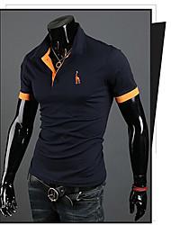 Camisa Casual bainha t de manga curta dos homens romeo
