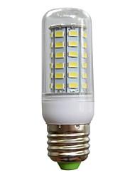 e27 12w 860lm 56x5730 SMD белый теплый белый привело кукурузы лампы люстры свет для домашнего AC 220V-240V прозрачной крышкой