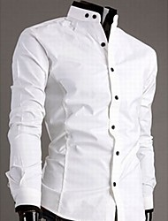 Big Fashion Men's Stand Collar Fit Shirt