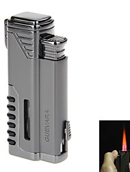 5409 Guevara Metal Windproof Dual Torch Flame Gas Cigarette Cigar Lighter(Assorted Colors)