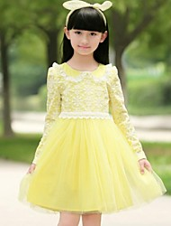 primavera de manga larga vestido de falda princesa de la muchacha de la falda amarga del fleabane amargo del fleabane