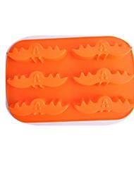 forma bat moldes bolo de gelo geléia de chocolate, silicone 26 × 16,6 × 3,5 centímetros (10,2 × 6,5 × 1,4 polegadas)