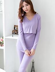 bearsland maternidade algodão engrossar velo grávidas conjunto sleepwear tops com calças tamanho bonito além de pijama