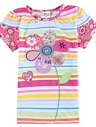 Girl's Cotton Tee , Summer Short Sleeve