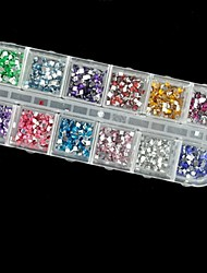 2500pcs 2mm carré diamant acrylique nail art décoration