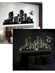 светящиеся наклейки наклейки для стен, стиль многоэтажный здания наклейки стены PVC