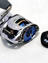 Carrete de la pesca Carretes de lanzamiento 6.3:1 11 Rodamientos de bolas ZurdoPesca de baitcasting / Pesca de agua dulce / Pesca de Cebo