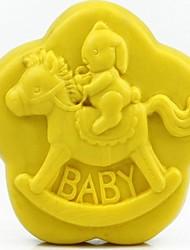 bebê coelho trojan ferramentas bolo fondant de chocolate em forma de silicone bolo molde decoração, l8.6cm * * w8.6cm h3.1cm