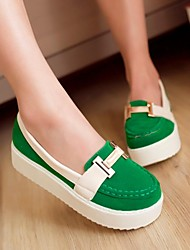 Women's Shoes Round Toe Platform Loafers with Split Joint Shoes More Colors available