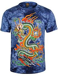 t-shirt 3d Drangon bandhnu homens romantismo