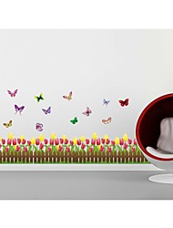 Wall Stickers Wall Decals, Style Tulip Fence PVC Wall Stickers