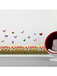 stickers muraux, stickers muraux de style tulipe clôture pvc stickers muraux