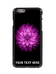 caso de telefone personalizado - rosa caso lotus design de metal para o iPhone 6