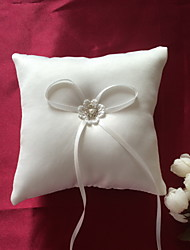 Elegant Beige Bowknot Ring Pillows