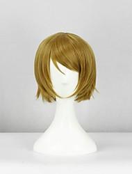 Cosplay Wigs Cosplay Hanayo Koizumi Yellow Short Anime Cosplay Wigs 32 CM Heat Resistant Fiber Female