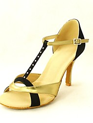 Latin Customizable Women's Sandals Satin with Rhinestone Dance Shoes (More Colors)