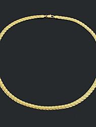 Figaro 60 centímetros homens cadeia dourado chapeado colares de cadeia (6,5 milímetros de largura)