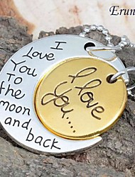 """Eruner® 2015 Fashion Necklace Moon Pendants """" I Love You To TheMoon And Back"""" Family Gifts Personal"""