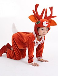 Cosplay Costumes / Party Costume Animal / Santa Suits Festival/Holiday Halloween Costumes Red Solid Leotard/Onesie / HatHalloween /