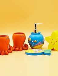 conjunto de accesorios de baño, de los amigos de alta mar Resinas 5 juegos de una pieza