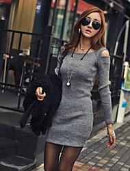 vestido sin tirantes coreana de las mujeres