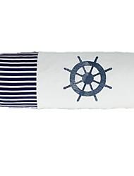 cilíndrica série oceano forma a fina azul lençóis de algodão bar leme almofadas decorativas