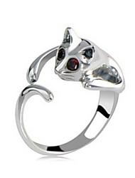 lonlon Frauenkristallrhinestone-Blumendruck Ringe