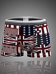 bandera de algodón calzoncillos boxers de moda masculina de ropa interior suave (más colores)
