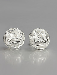 2016 New Beautiful Rose Sterling Silver Stud Earrings Wedding Party For Lady&Woman