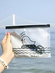 Chicken Pattern Translucent Plastic Zip Bag(Random Color)