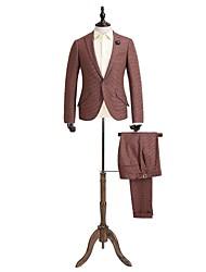 de ladrillo rojo de la guinga traje a medida en forma de lana