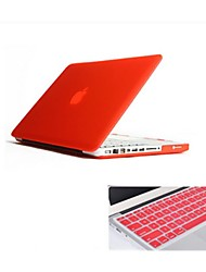 Solid Color Foldable Hard Case with Keyboard Cover for Macbook Pro 15.4 inch (Assorted Colors)
