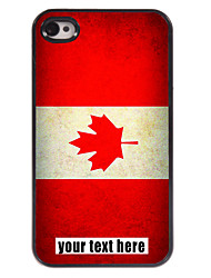 personalisierte Fall kanadische Flagge Design Metallkasten für iphone 4 / 4s