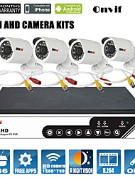 AHD DVR kits, Support p2p,NTSC, 4CH 720P AHD camera/ 4CH 960H HD Camera/ 2CH AHD 720P Camera+2CH 960H HD Camera