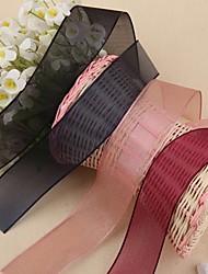 2M Gorgeous Organza  Grosgrain Ribbon-Width:4cm