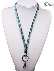 erunerroyal strass colbalt bling do cristal pescoço chave titular colhedor&ch telefone (cor aleatória)