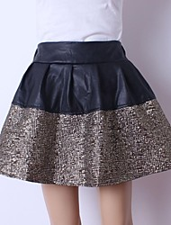 moda saias de couro fino pu das mulheres