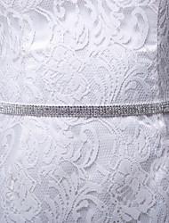 Satin / Satin / Tüll Hochzeit / Party / Abend / Alltagskleidung Schärpe-Strass Damen 250cm Strass