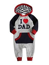 I LOVE DAD Baby Grow Long Sleeved Bodysuit Jumpsuit Romper Onesie Outwear