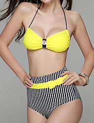 sexy bikinis bandeay deux pièces poitrine bowknot parure conception taille haute de panta des femmes