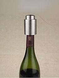 bujão de aço inoxidável vinho, aço inoxidável + silicone 7,5 × 4,5 × 4,5 centímetros (3,0 × 1,8 × 1,8 polegadas)