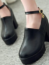 Women's Shoes Platform Round Toe Chunky Heel Loafers with Buckle Shoes More Colors available