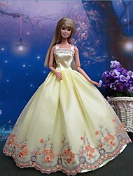 Party & Evening Dresses For Barbie Doll Yellow Dresses