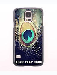 Personalized Phone Case - Peacock Feathers Design Metal Case for Samsung Galaxy S5