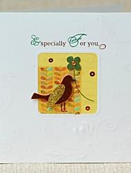 o mini pássaro milhão graças abençoe cartão
