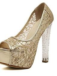 scarpe da donna peep tallone grosso punta scarpe più colori disponibili